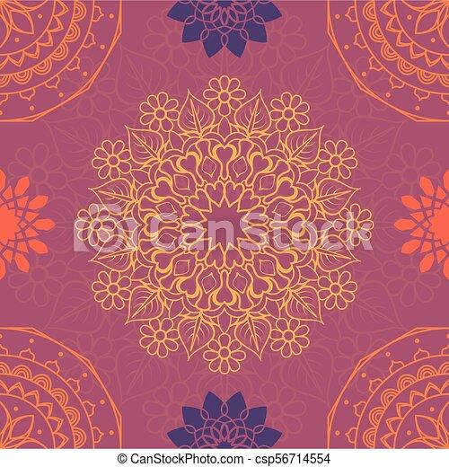 El colorido mandala sin fondo - csp56714554