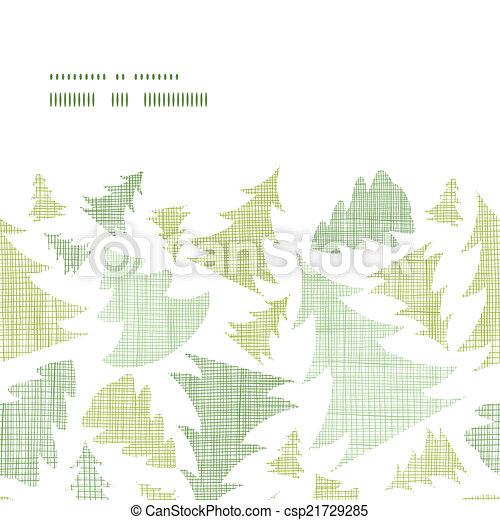 Los árboles De Navidad Verdes Siluetas Textiles De