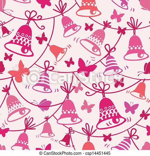Campanas y mariposas de fondo sin marcas - csp14451445