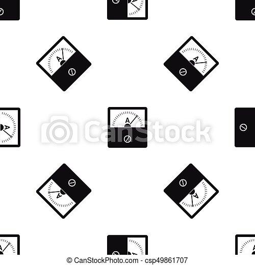 Patrón incomparable negro - csp49861707