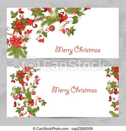 Tarjetas De Invitación Con Un Patrón De Navidad Para Tu Diseño