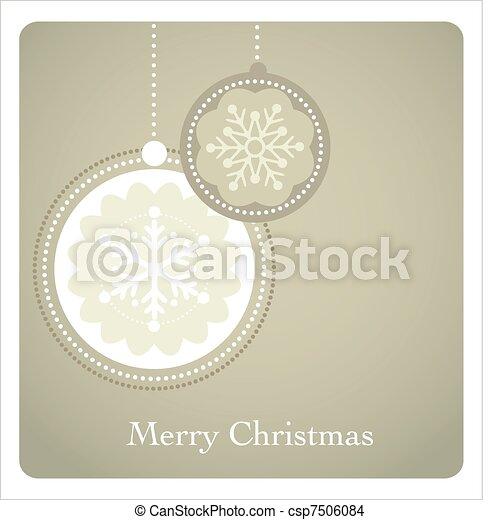 Trasfondo navideño con un patrón retro - csp7506084