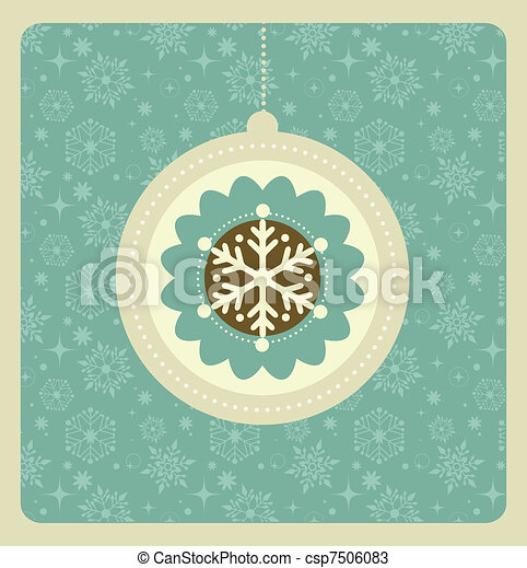 Trasfondo navideño con un patrón retro - csp7506083
