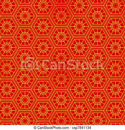 Patrón oriental sin costura - csp7841134