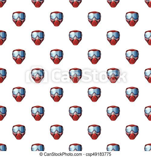 Máscara roja para un patrón de paintball - csp49183775