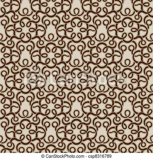 Patrón de papel de pared marrón - csp8316789