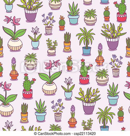 Plantas caseras sin fondo - csp22113420