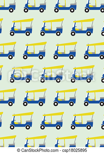 Trasfondo de diseño de Taxi Tuk Tuk - csp18025895
