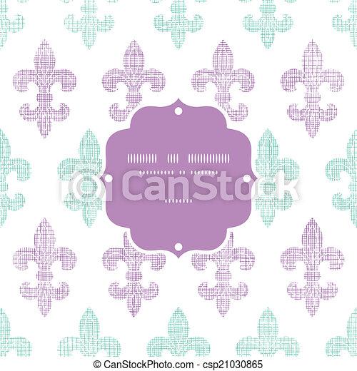 El textil abstracto fleur de lis rayas enmarcan el fondo sin estructura - csp21030865