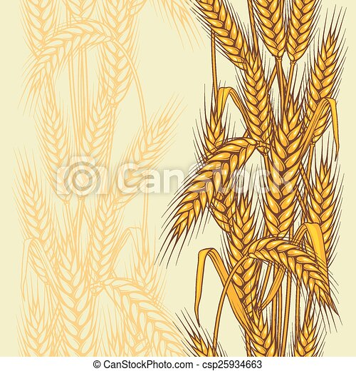 Patrón sin costura abstracto con trigo - csp25934663