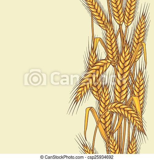 Patrón sin costura abstracto con trigo - csp25934692