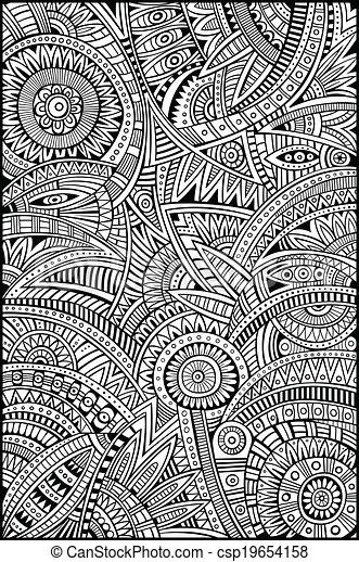 vector abstracto patrón de origen étnico tribal - csp19654158