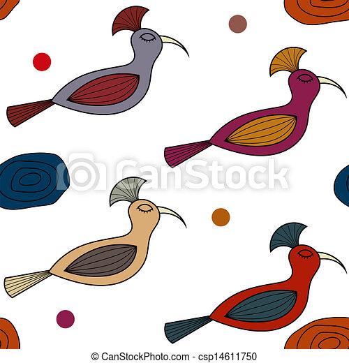 patrón, seamless, aves - csp14611750