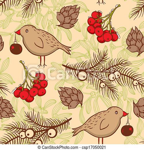 patrón, seamless, aves - csp17050021
