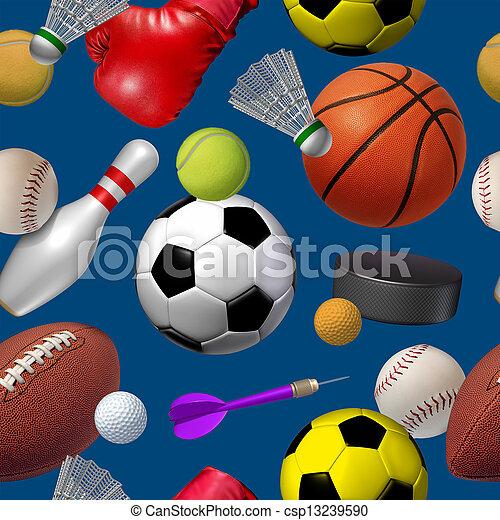 patrón, seamless, deportes - csp13239590