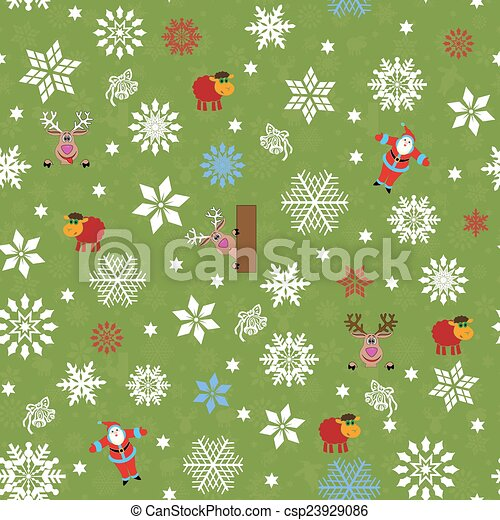 Patron Seamless Motivos Navidad Sheep Copos De Nieve Patron - Motivos-navidad