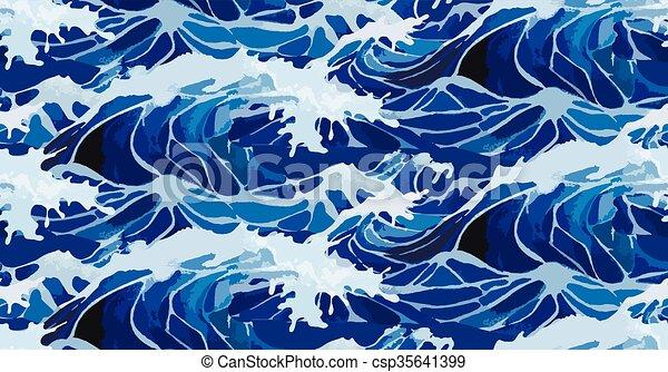 Patrón de ondas de tormenta acuáticas - csp35641399