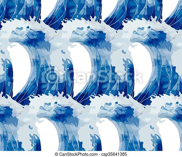 Patrón de ondas de tormenta acuáticas - csp35641385