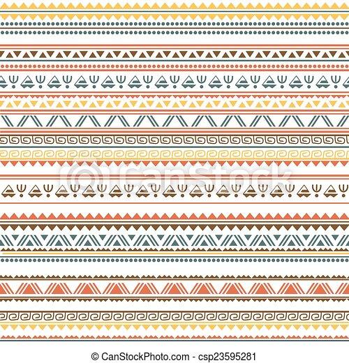 Patrón étnico tribal sin costura - csp23595281