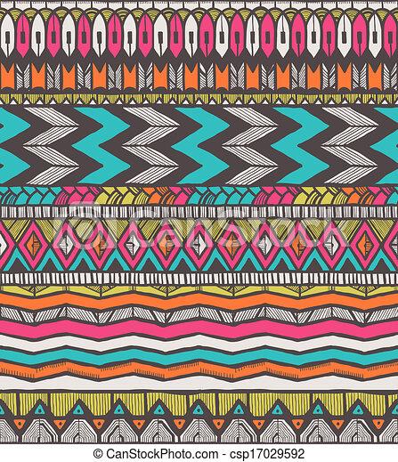 Patrón vector tribal - csp17029592