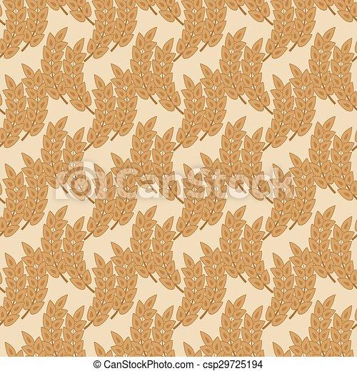 Patrón sin costura con orejas de trigo - csp29725194