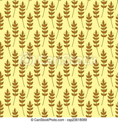 Patrón sin costura con orejas de trigo - csp23618089