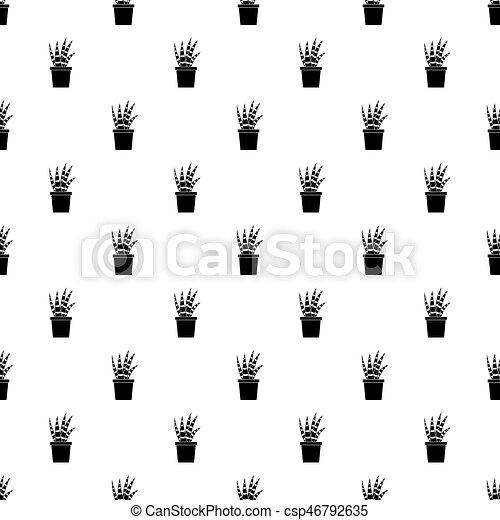 vector de patrones de cactus - csp46792635