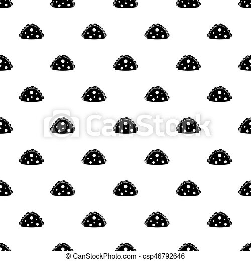 Vector de patrones de hamburguesa - csp46792646