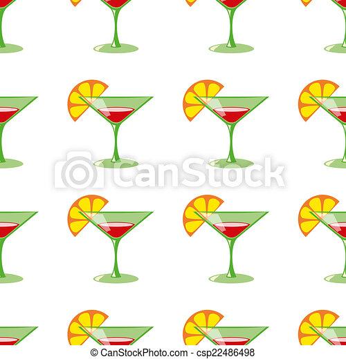 Martini vector sin costura patrón - csp22486498