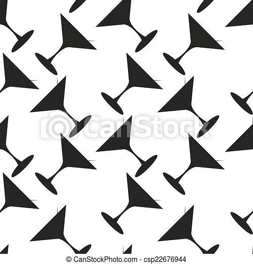 Martini vector sin costura patrón - csp22676944
