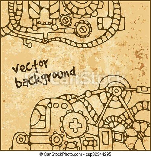 Patrón mecánico vector - csp32344295