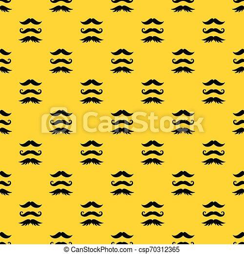 Bigote vector patrón - csp70312365