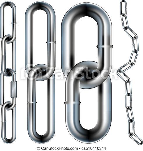 patrón, vector, seamless, cadena - csp10410344