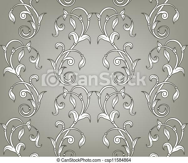 Patrón floral sin vector - csp11584864