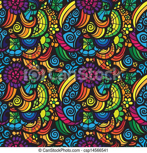 Patrón, vector, seamless, mosaico. Patrón, flores, vector,... vector ...