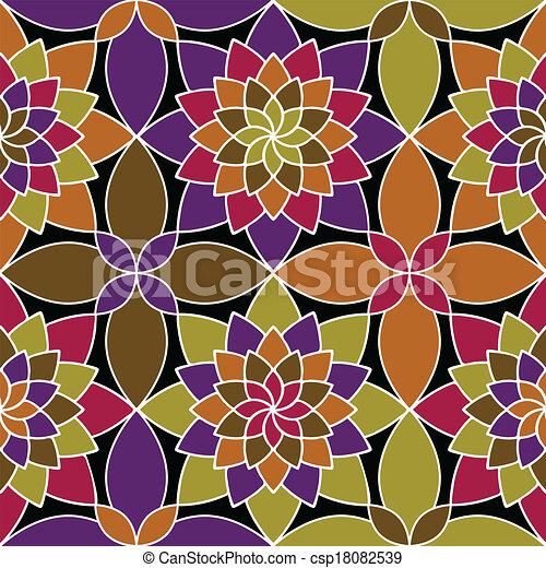 Vector mosaico patrón sin costura - csp18082539