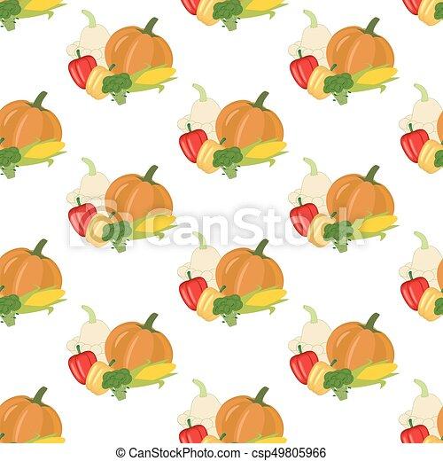 Vegetales sin costura - csp49805966