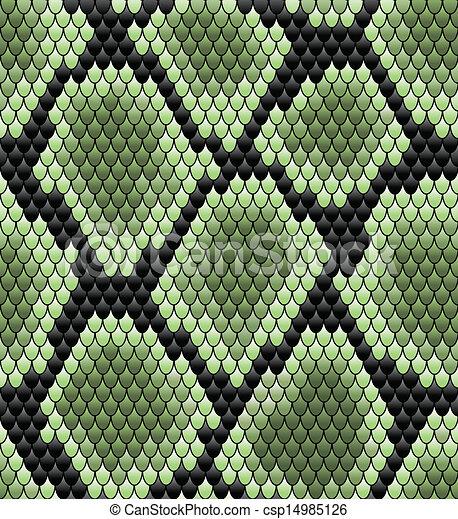 Patrón de piel de serpiente verde - csp14985126