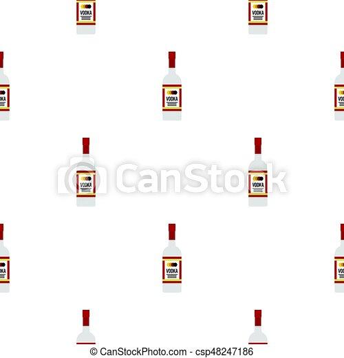 Patrón de vodka plano - csp48247186