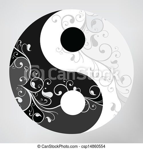 Simbolo del Yin yang - csp14860554