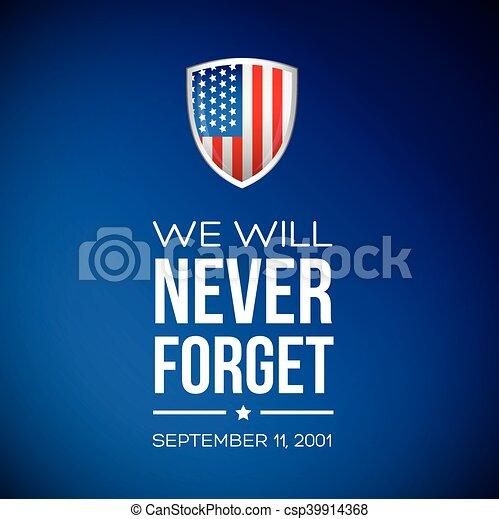 patrióta, szeptember, 11, -, 2001, nap - csp39914368