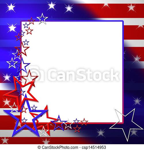 Ilustración de bandera patriótica - csp14514953