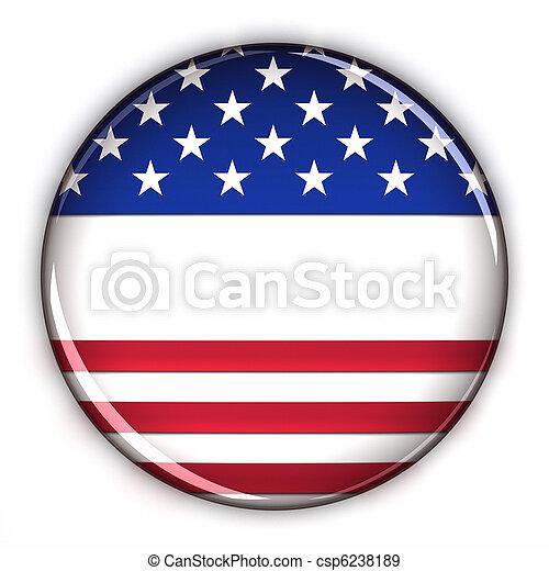 Botón patriótico en blanco - csp6238189