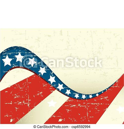 patriótico, finca, plano de fondo - csp6592994