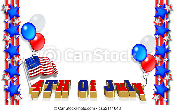 Estrellas y rayas de frontera patriótica - csp2111043