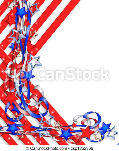Estrellas fronterizas y rayas patrióticas - csp1352366