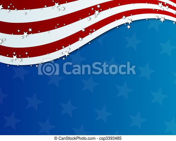 patriótico, julho quarto, fundo - csp3393485