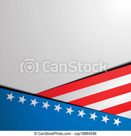 patriótico, listras estrelas, fundo - csp19884596