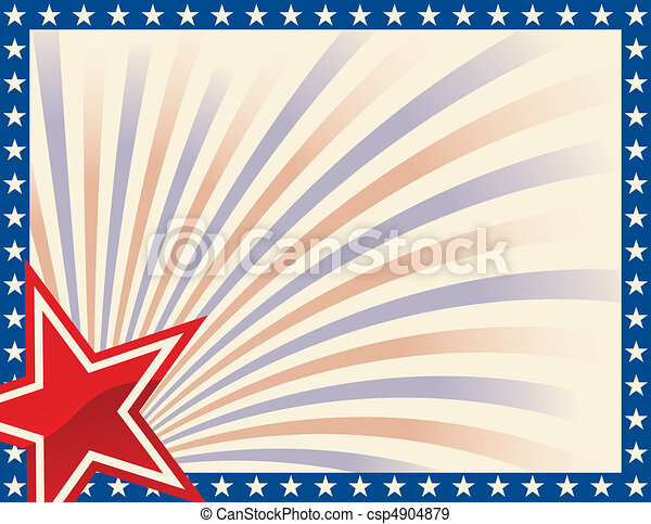 patriótico, marco, estrellas - csp4904879