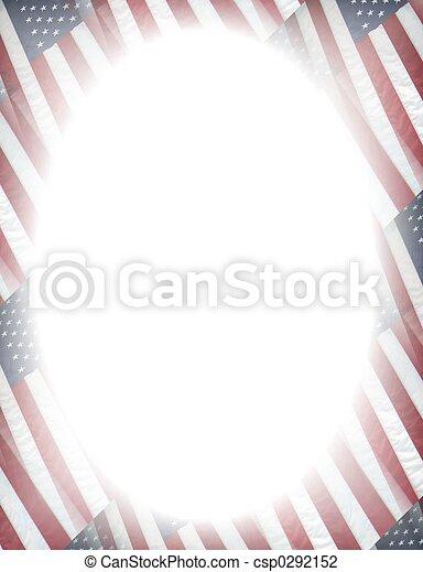 Un marco patriótico - csp0292152